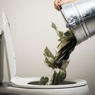 your-money-down-the-toilet